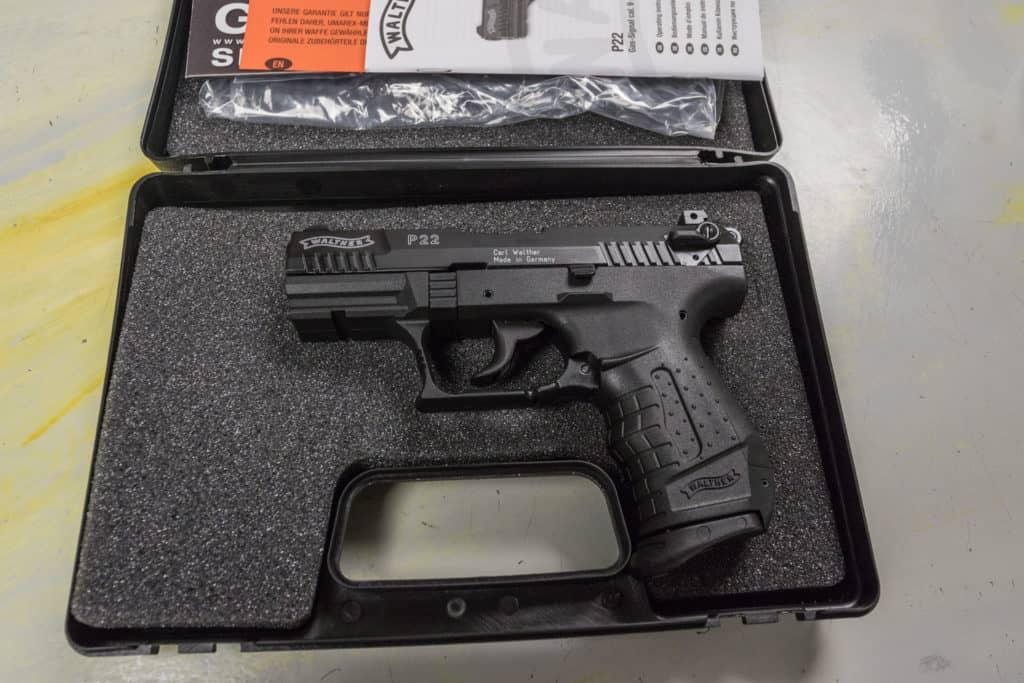 P22 im Koffer