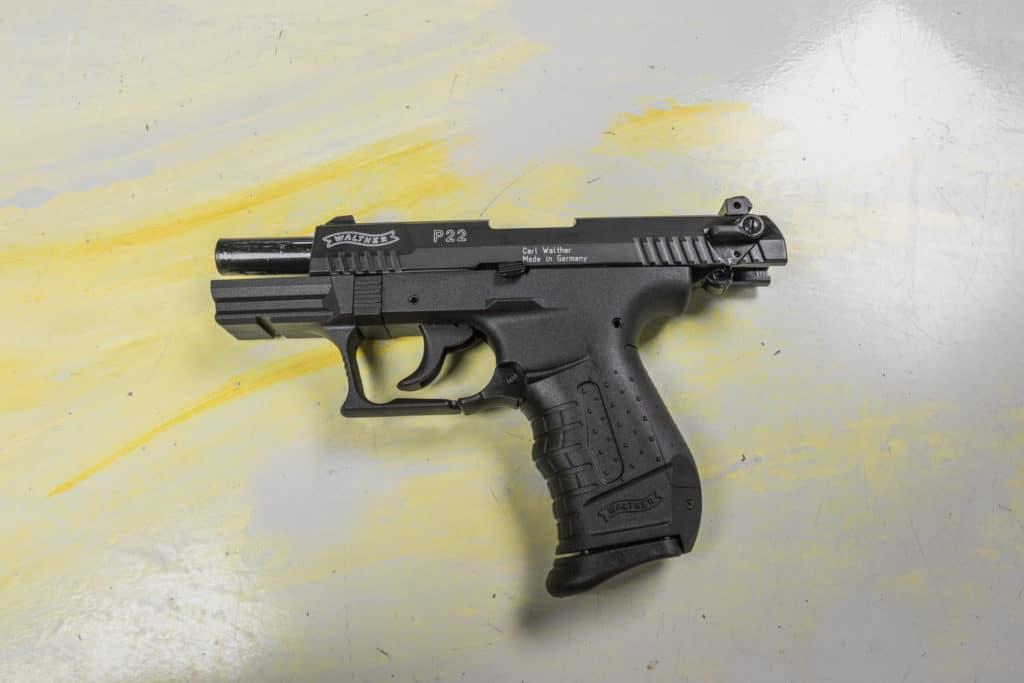 Walther P22 durchgezogen