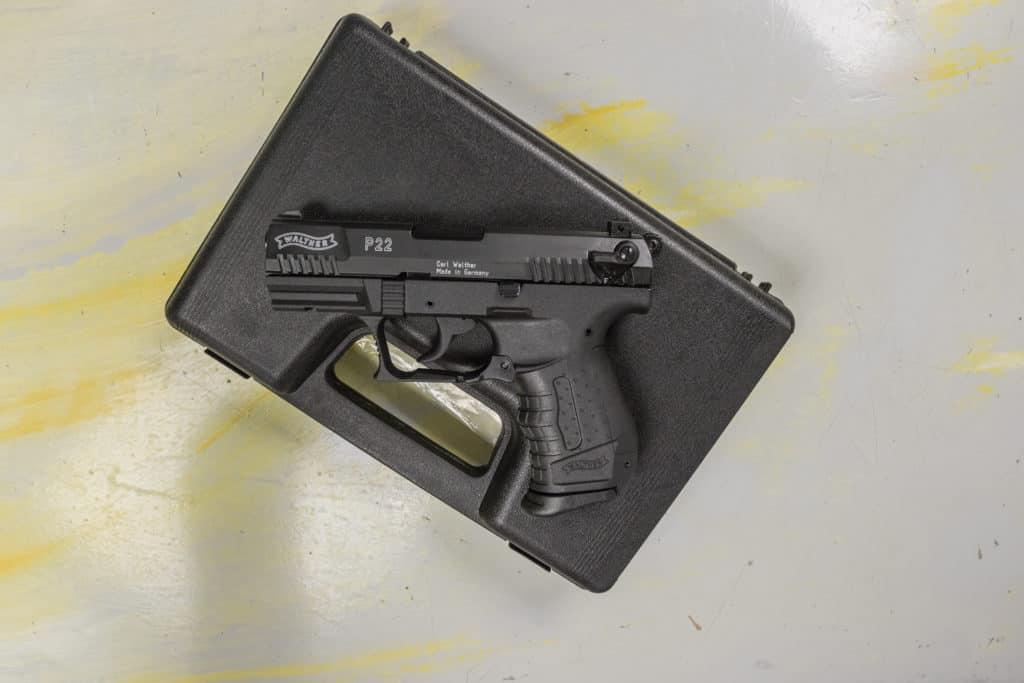 P22 von Walther im Koffer
